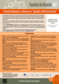"""V Edición Diplomatura a distancia """"Igualdad y no discriminación"""""""