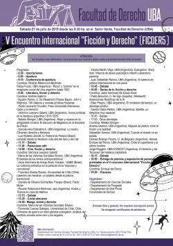 """V Encuentro internacional """"Ficción y Derecho"""" (FICDER5)"""
