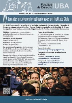 V Jornadas de Jóvenes Investigadoras/es del Instituto Gioja