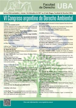 VI Congreso argentino de Derecho Ambiental