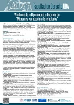 VI Edición - 2020 Diplomatura a distancia en Migrantes y protección de refugiados