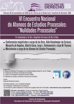 """VI Encuentro Nacional de Ateneos de Estudios Procesales: """"Nulidades Procesales"""""""