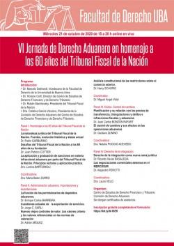 VI Jornada de Derecho aduanero en homenaje a los 60 años del Tribunal Fiscal de la Nación