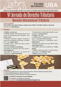 VI Jornada de Derecho Tributario