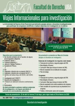 Viajes internacionales para Investigación