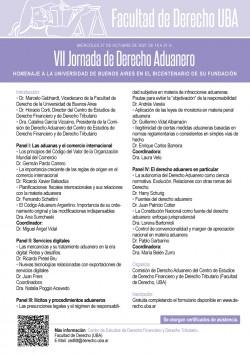 VII Jornada de Derecho Aduanero. Homenaje a la Universidad de Buenos Aires en el bicentenario de su fundación
