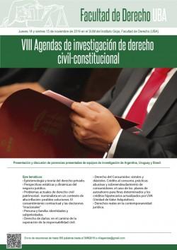 VIII Agendas de investigación de derecho civil-constitucional