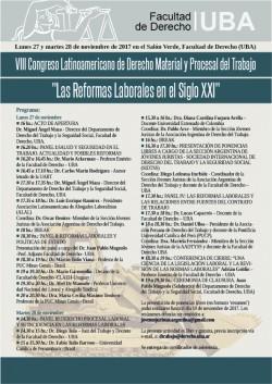 """VIII Congreso Latinoamericano de Derecho Material y Procesal del Trabajo. """"Las Reformas Laborales en el Siglo XXI"""""""