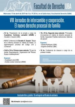 VIII Jornadas de intercambio y cooperación. El nuevo derecho procesal de familia