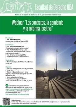 """Webinar """"Los contratos, la pandemia y la reforma locativa"""""""