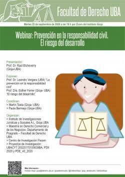 Webinar: Prevención en la responsabilidad civil. El riesgo del desarrollo