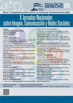 X Jornadas Nacionales sobre Imagen, Comunicación y Redes Sociales