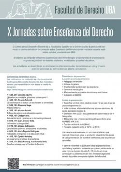 X Jornadas sobre Enseñanza del Derecho