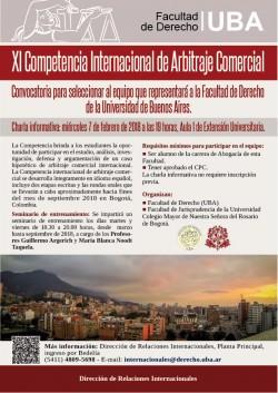 XI Competencia Internacional de Arbitraje Comercial. Febrero 2018