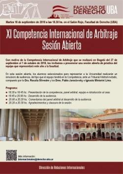XI Competencia Internacional de Arbitraje - Sesión Abierta