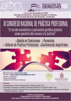 """XI Congreso Nacional de Práctica Profesional: """"El rol del consultorio y patrocinio jurídico gratuito como garantía del acceso a la justicia"""""""