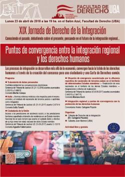 XIX Jornada de Derecho de la Integración: Puntos de convergencia entre la integración regional y los derechos humanos