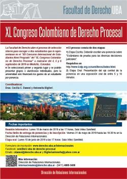 XL Congreso colombiano de Derecho Procesal