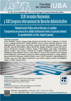 XLIII Jornadas Nacionales y XIII Congreso Internacional de Derecho Administrativo
