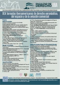 XLV Jornadas iberoamericanas de derecho aeronáutico, del espacio y de la aviación comercial