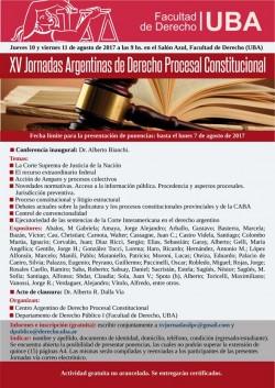 XV Jornadas Argentinas de Derecho Procesal Constitucional