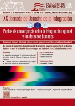 XX Jornada de Derecho de la Integración. Puntos de convergencia entre la integración regional y los derechos humanos