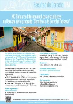 """XXI Concurso Internacional para estudiantes de Derecho nivel pregrado """"Semilleros de Derecho Procesal"""""""