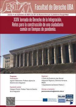 XXIV Jornada de Derecho de la Integración. Retos para la construcción de una ciudadanía común en tiempos de pandemia