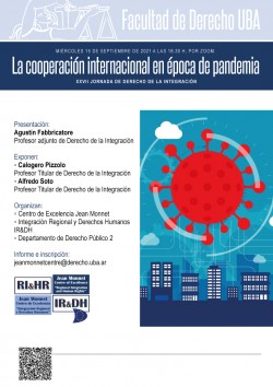 XXVII Jornada de Derecho de la Integración: La cooperación internacional en época de pandemia