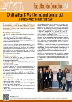 XXVII Willem C. Vis International Commercial Arbitration Moot - Edición 2019/2020