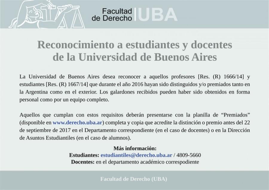 Reconocimiento a estudiantes y docentes de la universidad for Funcionarios docentes en el exterior