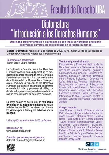 El CDH lanza una diplomatura introductoria sobre Derechos Humanos