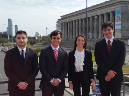 El equipo de la Facultad llegó a cuartos de final en la XIV Competencia Internacional de Arbitraje