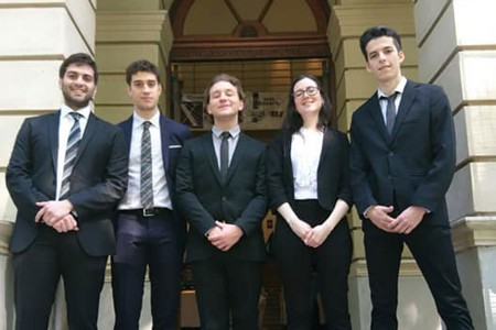 El equipo de la Facultad obtuvo el primer premio en el Concurso Nacional de Litigación Penal