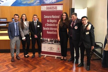 Un equipo de la Facultad se consagró ganador del Primer Concurso Nacional de Derecho Internacional Humanitario