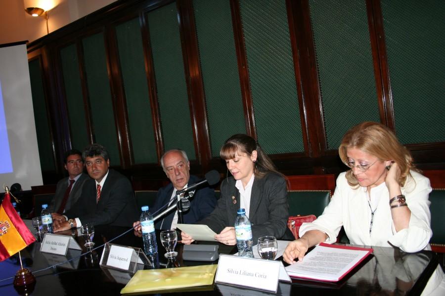 Luis Cavalli, Juan Manuel Velasco, Atilio Alterini, Silvia Jaquenod de Zsögön y Silvia Coria