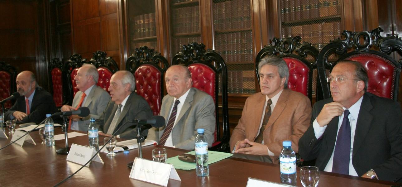 Eduardo Sirkin, Jorge Kielmanovich, Atilio Alterini, Roland Arazi, Osvaldo Gozaíni y Jorge W. Peyrano