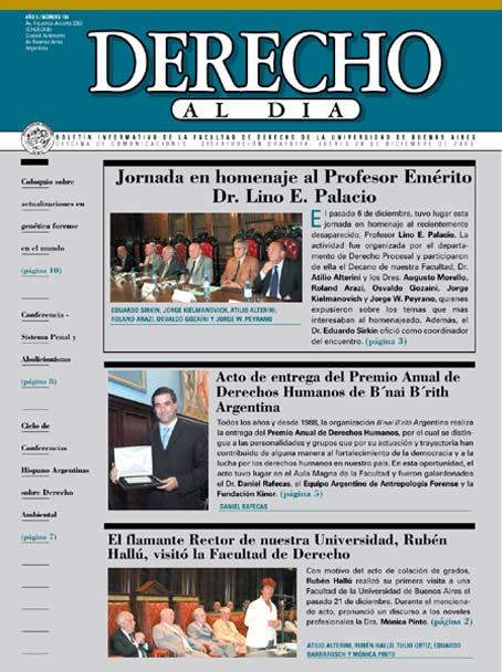 Tapa de Derecho al Día - Edición 100