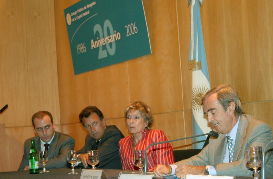 Alberto Spota (h), Alberto Dalla Vía, Susana Cayuso y Martín Dedeu