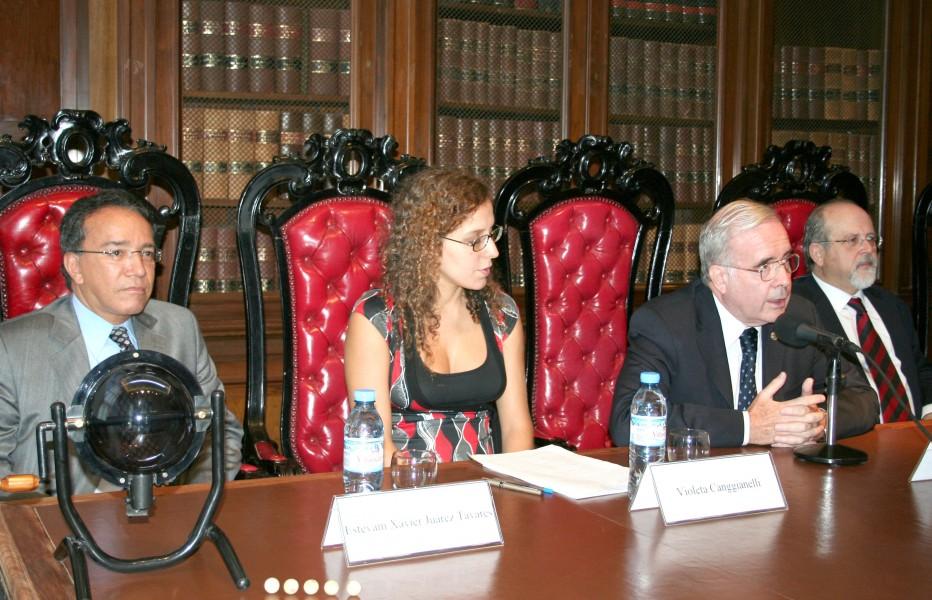 Estevan Xavier Juárez Tavarés, Violeta  Canggianelli, Tulio Ortiz y Luis Arroyo Zapatero