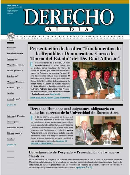 Tapa de Derecho al Día - Edición 102