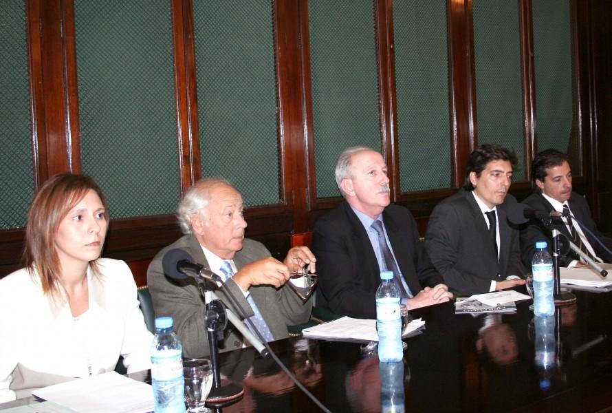 Laura Perugini, Adolfo Rivas, Jorge Kielmanovich, Fernando Juan Lima y Marcelo Vázquez