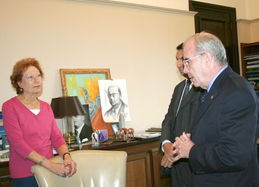 Lilia Bardone de Freire, Alejandro Gómez y Tulio Ortiz