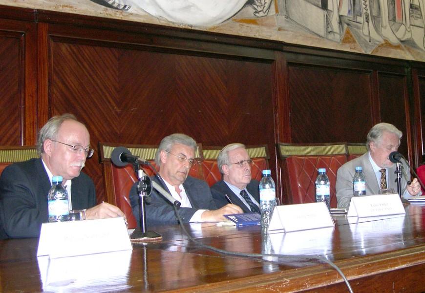 Patrice Vermeren, Jaime Sorín, Tulio Ortiz y Marc Augé