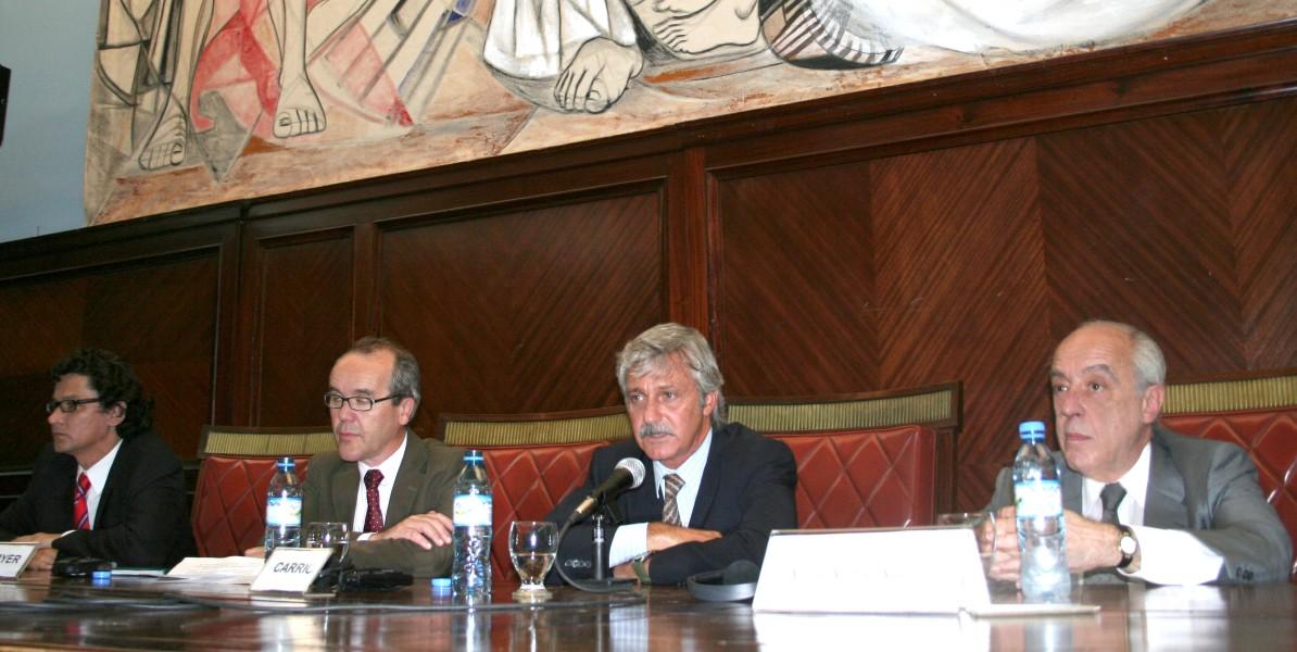Ernesto Cussianovich, Martin Fryer, Alejandro Carrió y Atilio Alterini