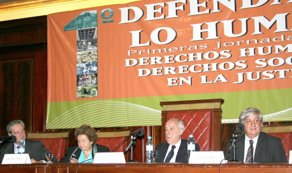 Pablo Mosca, Stella Maris Martínez, Atilio Alterini y Julio Piumato