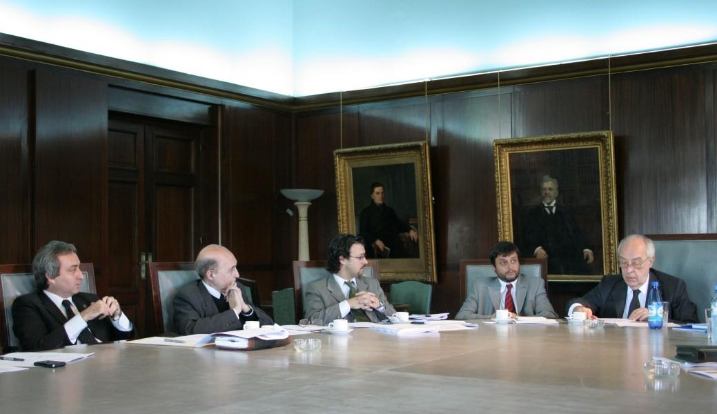 Gustavo Nadalini, Miguel Ángel Ciuro Caldani, Emiliano Buis, Gonzalo Álvarez y Atilio Alterini