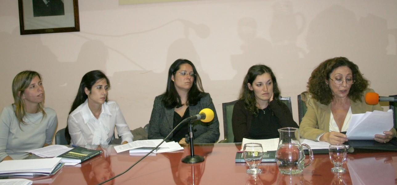 Dolores María Duverges, María Soledad Casals, María Victoria Zarabozo, Alejandra Mpolás Andreadis y Beatriz Nuñez Santiago