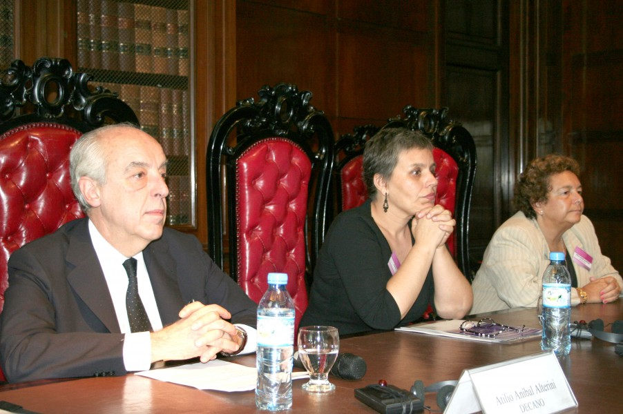 Atilio Alterini, Lorena Fries y Stella Maris Martínez