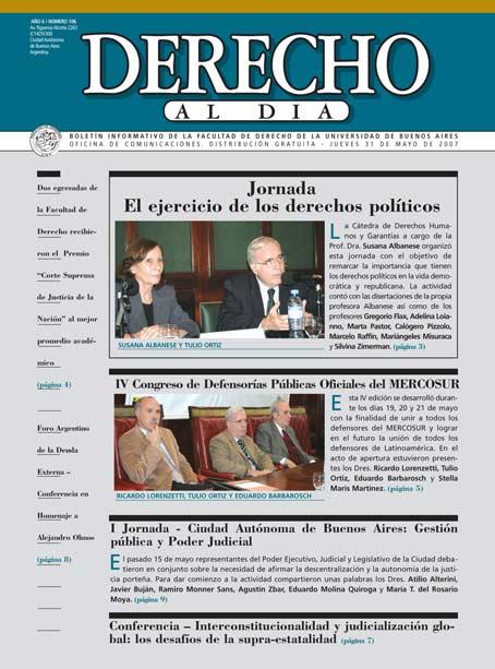 Tapa de Derecho al Día - Edición 106